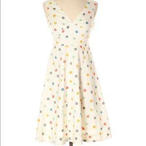 White polka dot Garnet Hill dress